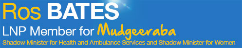 Ros Bates MP – Building a Better Mudgeeraba Logo